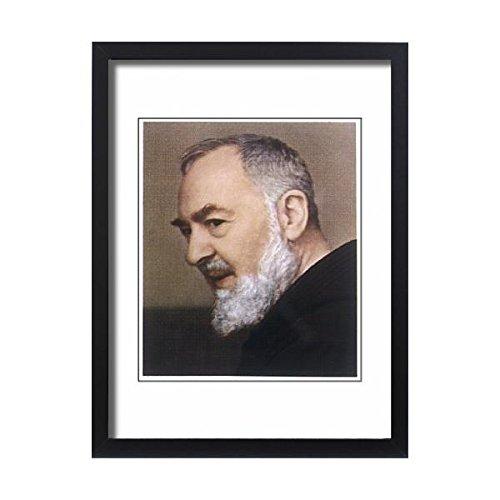 Framed 24x18 Print of PADRE PIO (579671) by Prints Prints Prints