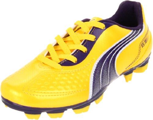 Puma V5.11 I FG Soccer Cleat (Little Kid/Big Kid),Vibrant Yellow/Parachute Purple/White,3.5 M US Big Kid ()