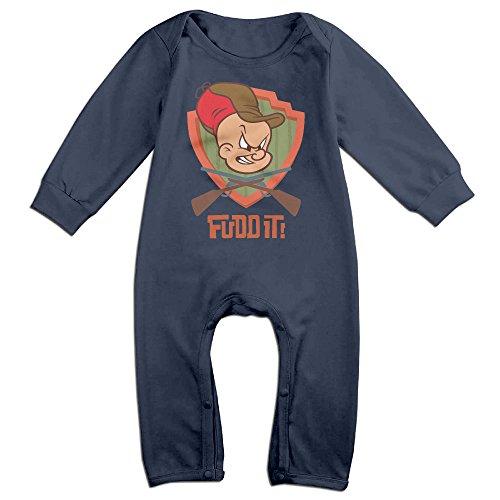 baby-boys-girls-elmer-fudd-cute-short-sleeve-bodysuit-onesie-navy-18-months
