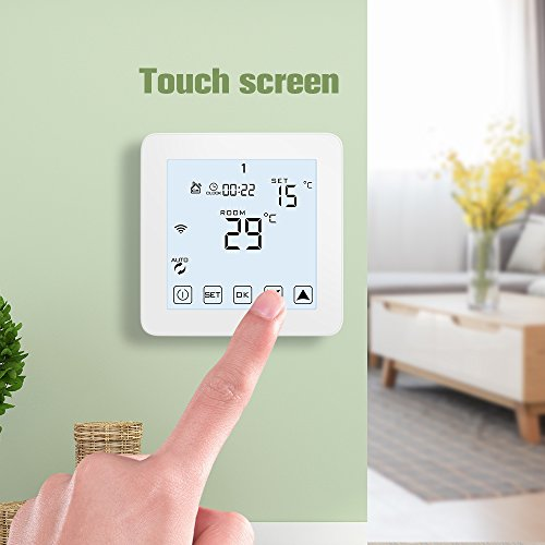 WiFi Thermostat, Programmable Touchscreen Smart Thermostat, Compatible with Alexa by CoolPai (Image #5)
