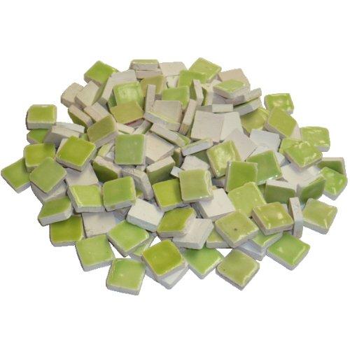 Mosaix 10 x 10 x 3 mm 70 g Maxi 150 piè ces en cé ramique é maillé e mosaï que, carrelage, Jaune Clair/Vert EFCO 2295661