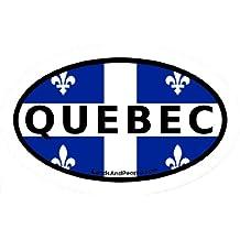 Quebec French Canada Flag Car Bumper Sticker Decal Oval