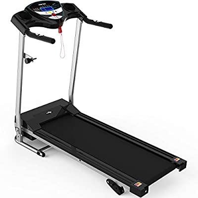 Merax Electric Folding Treadmill Motorized Running Machine with Wheels Easy Assembly