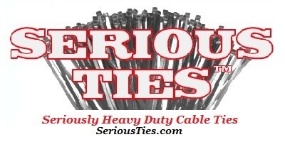 Serious Ties Extra Heavy Duty Cable Ties 50, 48 Inch//175Lbs//UV Black