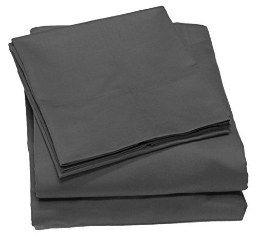 300 Thread Count 100% Cotton Sheet Set, Soft Sateen Weave,Queen Sheets, Deep Pockets,Hotel Collection,Luxury Bedding-Bestseller- Super Sale 100% Cotton, Queen Grey by Callista Fine Linen (300 Set Sheet Count Thread Queen)