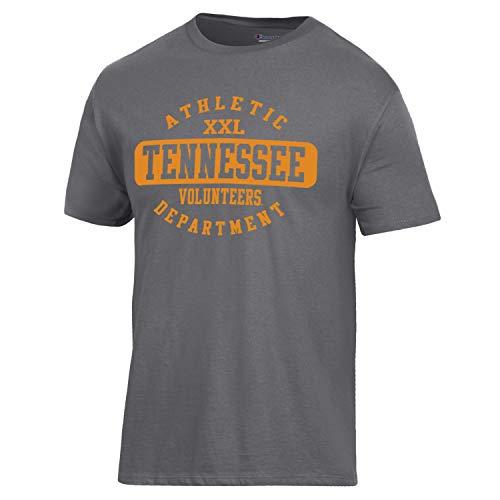 Champion NCAA Tennessee Volunteers Men's Ringspun Short Sleeve T-Shirt, Granite Heather, X-Large