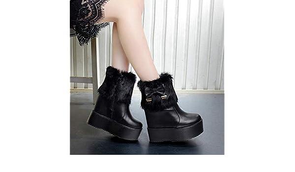 Para Y Engrosado Fondo La Zapatos Hrcxue De Con Botines Corte Mujer nXHwgAvq