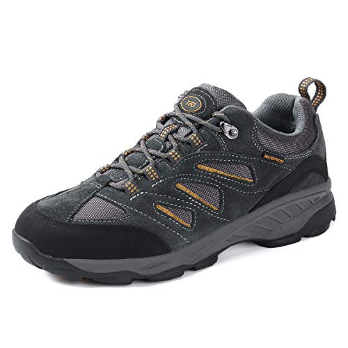 3bc1deacd4147e TFO Men's Air Cushion Outdoor Sports Non-Slip Hiking Shoes Athletic Running  Climbing Trekking Sneakers (9.5, Dark Grey)