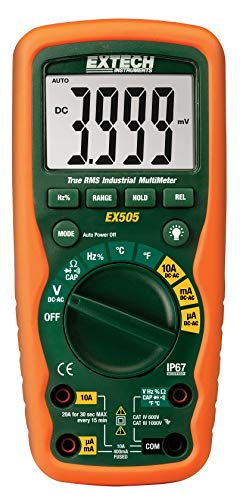 - Extech EX505 CAT IV-600V True RMS Industrial MultiMeter with Waterproof (IP67) Rugged Design for Heavy Duty Use