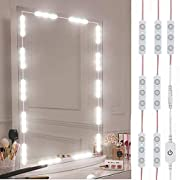 #LightningDeal Led Vanity Mirror Lights, Hollywood Style Vanity Make Up Light, 10ft Ultra Bright White LED, Dimmable Touch Control Lights Strip, for Makeup Vanity Table & Bathroom Mirror, Mirror Not Included