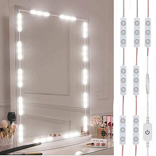 Led Vanity Mirror Lights, Hollywood Style Vanity Make Up Light, 10ft Ultra Bright White LED, Dimmable Touch Control…