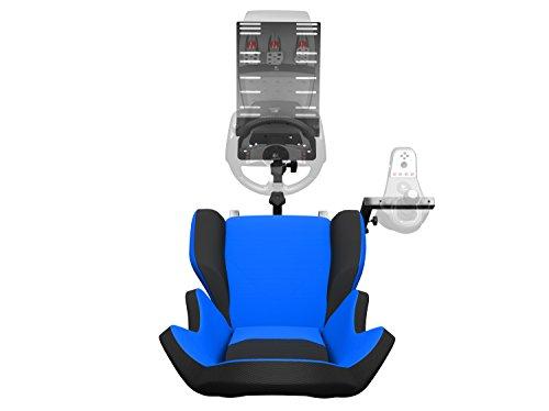 6714291adbc Openwheeler GEN2 Racing Wheel Stand Cockpit Blue on Black   Fits All  Logitech G29   G920