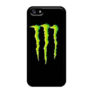 Protector Hard Phone Covers For Iphone 5/5s (eqO17028CqXh) Customized Fashion Monster Pattern