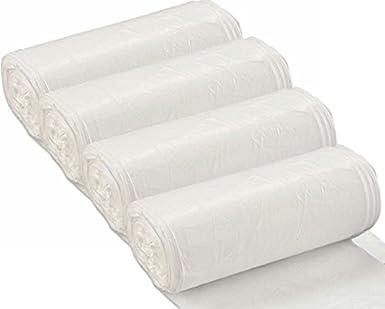 Amazon.com: 200 bolsas de basura de aluminio blancas, 16 ...