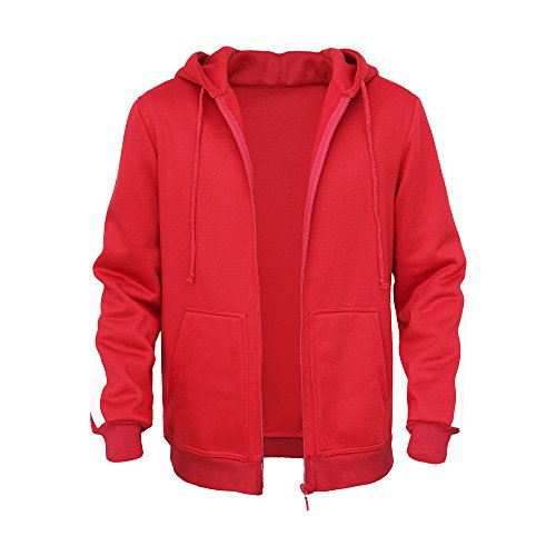 Mukola Adult Coco Miguel Hoodie Fleece Full Zip Sweatshirts Costume (M, Red)