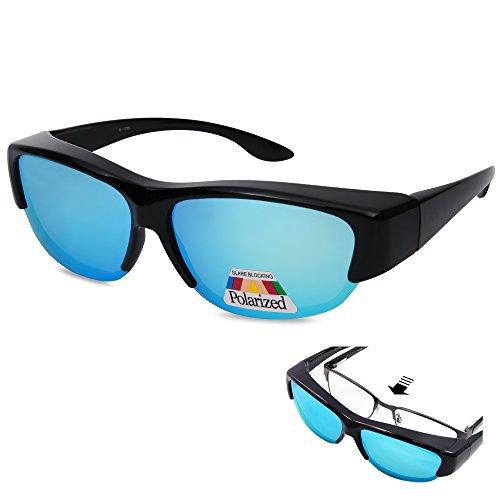 EYEGUARD Unisex Fashion Fit Over Polarized Lens Cover Sunglasses - Wear Over Prescription Glasses