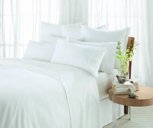 Sheridan Tour de lit en coton égyptien satiné 600 g / m² Blanc Double 137 x 190 x 43 cm