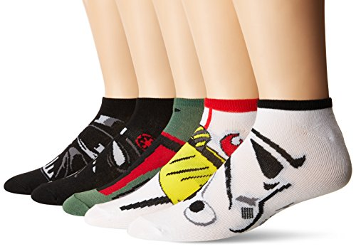 Star Wars Men's 5 Pack No Show Socks, Assorted Neutral, Fits 10-13 Shoe Size 6 1/2-12 ()