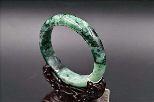 big size Chinese handmade Grade A jade ( Untreated) genuine Burma jadeite Bangle Bracelet 64mm