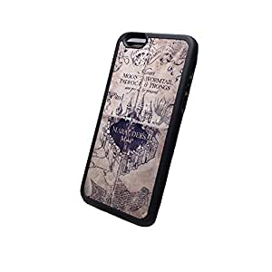 Marauders map Harry Potter inspired Iphone 6 (4.7-Inch) Black Flexible Soft TPU Case Slim Case for iPhone 6 (4.7) (2014) by ruishername
