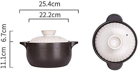 XIAOWEI Casserole Ustensiles de Cuisine Casserole Cuisinière à gaz Domestique Casserole en céramique Casserole à Haute température Pot de Soupe (Taille: 2.5L)