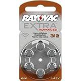 Pilas para audífonos, 20 pack de 6 unds., (120 pilas en total) RAYOVAC PROLINE ADVANCED, Tipo: 312. PREMIUM ZINC AIR. 180 mAh. Fabricadas en Gran Bretaña.