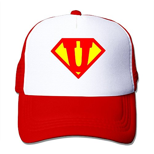 LINNA Super Letter U Cotton Hats Leisure Caps For Outdoor Sports Red