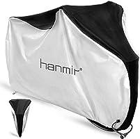 Hanmir 自転車カバー サイクルカバー 厚手 防犯 防塵 耐熱 UVカット 撥水加工 破れにくい 盜難防止 風飛び防止 雨雪対応き 29インチまで対応 収納袋付き