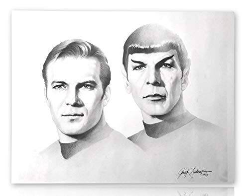STAR TREK 20X24 LITHOGRAPH BY ARTIST GARY SADERUP SIGNED POSTER PHOTO SPOCK KIRK from Inscriptagraphs