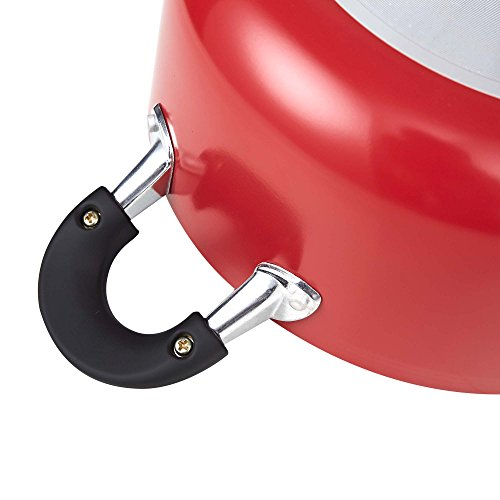 Cook N Home NC-00399 10-Piece Nonstick Cookware Set, Red