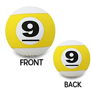 Quantity 10 pcs pack - Coolballs Cool Billiards Pool Table Nine 9 Ball League - Car Antenna Topper / Antenna Ball / Desktop Spring Stand