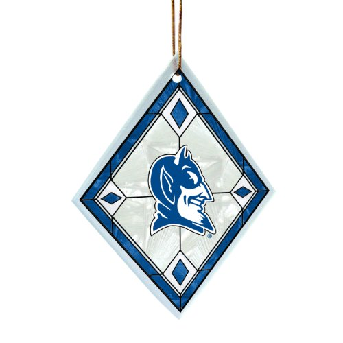 Devils Glass Diamond (NCAA Duke Blue Devils Art Glass)