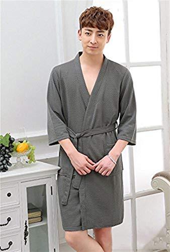 Spa Donne Accogliente Bobo Kimono Per E Robe Sauna Acconciatura Uomini Helleslila Unique Waffle Stlie Camice Accappatoio Cotton 88 qxxwaHYpP