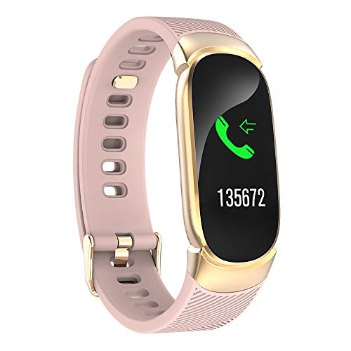 LEERYAAY QW16 Smart Watch Sports Fitness Activity Heart Rate Tracker Blood Pressure Watch Rosegold