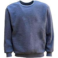 Zmart New Adult Unisex Plain Pullover Fleece Jumper Mens Long Sleeve Crew Neck Sweater