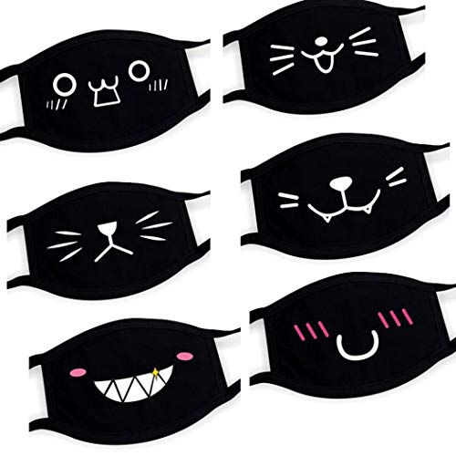 Corgy Unisex Mouth Massk Cute Cartoon Expression Hanging Ear Cotton Dust Massk Massks