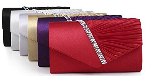 Main Haute a Mariage pour party Soiree Qualite Finette Ceremonies en Portefeuille Cloud 27×11×5cm Blanc de Sac Y Pochette Sac z5nW8q