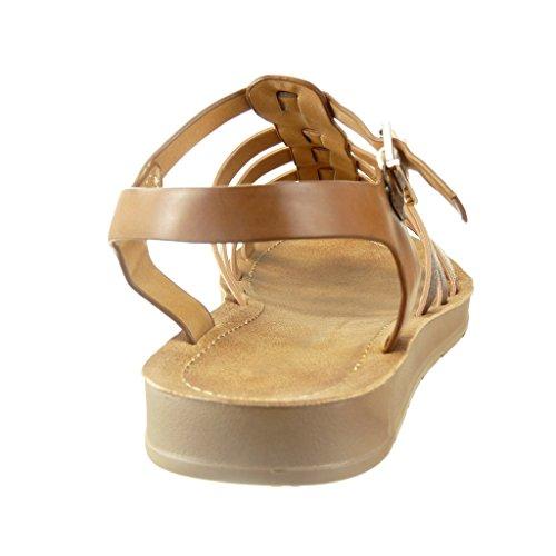 newest 1835e 1319a ... Angkorly - Chaussure Mode Sandale spartiates femme peau de serpent  lanière multi-bride Talon compensé