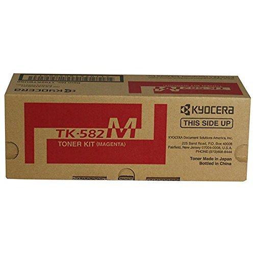 Kyocera Part# TK582M OEM Magenta Toner Cartridge - 2.800 Pages (1T02KTBUS0) by Kyocera