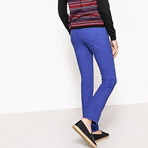 La Redoute Collections Donna Pantaloni Dritti Cotone Stretch Taglia 54 Blu
