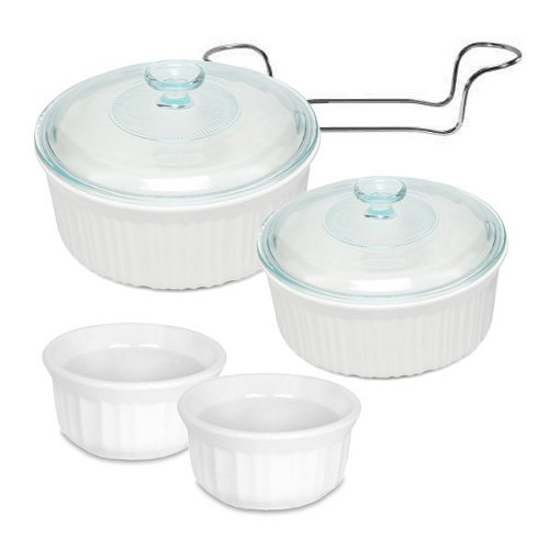 (Corningware French White Stoneware 7 Piece Bakeware Set)