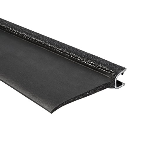 Trim-Lok 7B350B2X1/2C-100 EPDM Closed Cell Sponge Rubber/PVC/Aluminum Flap Seal, 3.640'' Height, 1'' Top Flap, Fits Edge 1/2'', 100' Length by Trim-lok