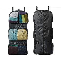 Rume Bags Tri-fold GTO Garment Clothing Travel Organizer Storage Bag (Black)