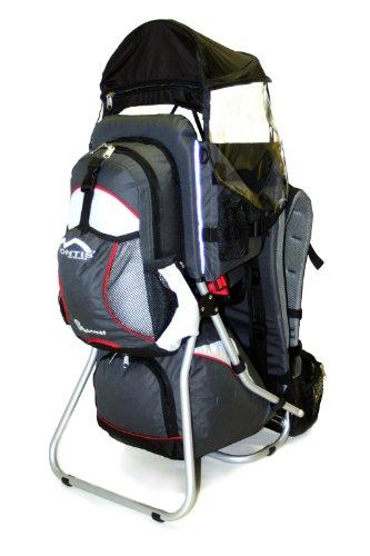 MONTIS HOOVER, Premium Rückentrage, Kindertrage, bis 25kg, GRAU