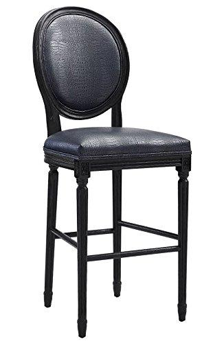 c8a3f0bad499 Amazon.com: Tov Furniture Philip Croc Counter Stool, Graphite ...
