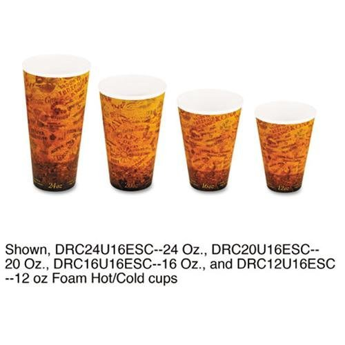 Dart Fusion 16U16ESC Foam Hot/cold Cups 16 Oz. Brown/black 1000/carton by Dart Fusion (Image #1)