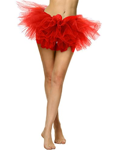 Women' Adult Tutu Skirt Dress-Up 5 Layered Dance Ballet Tulle Tutus (Womens Dress Up)