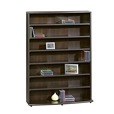 Cherry Wood Bookcase Adjustable Book Shelves Storage