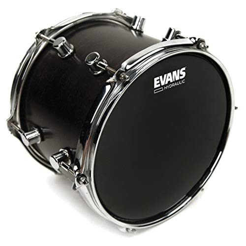 Evans Hydraulic Black Drum Head, 12 Inch