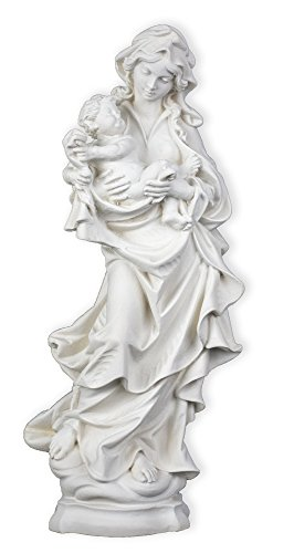 Madonna & Child with Blanket Resin Statue (Mother Holding Child Statue)